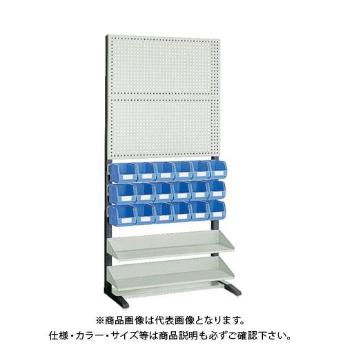 【運賃見積り】【直送品】 TRUSCO UPR型パンチングラック 棚板2段 VN-2NX18個付 UPR-208N