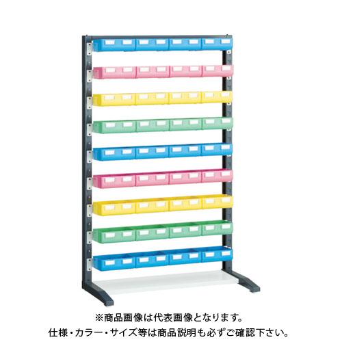 【個別送料1000円】【直送品】 TRUSCO UPRラック片面 H1450 ビン大青X12赤・黄・薄緑各8個付 UPR-L1409B