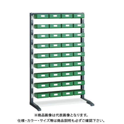 【個別送料1000円】【直送品】 TRUSCO UPRラック片面 H1450 K-20HYG 36個付 UPR-L1409D