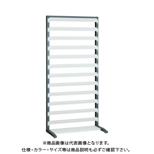 【運賃見積り】【直送品】 TRUSCO UPRラック片面 H1900 棚受12個付 UPR-L1812