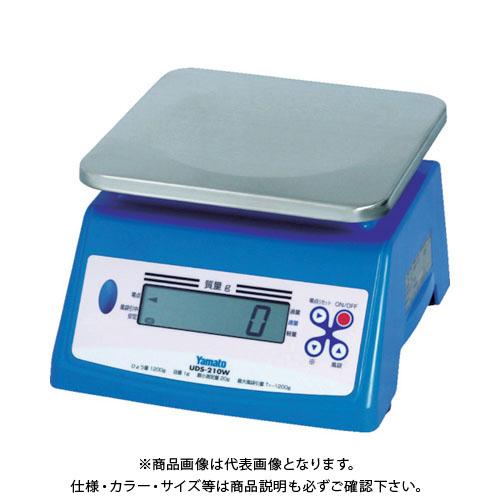 【直送品】ヤマト 防水形デジタル式上皿自動はかり UDS-210W-20K UDS-210W-20K