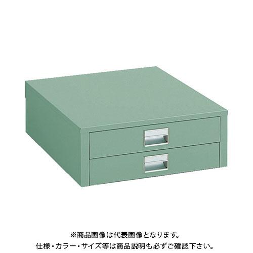 【個別送料1000円】【直送品】 TRUSCO UDC型作業台用引出し 薄型2段 グリーン UDC-002