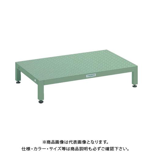 【直送品】 TRUSCO 高床用縞鋼板ステップ 600X600XH190~220 UFSH-0660S