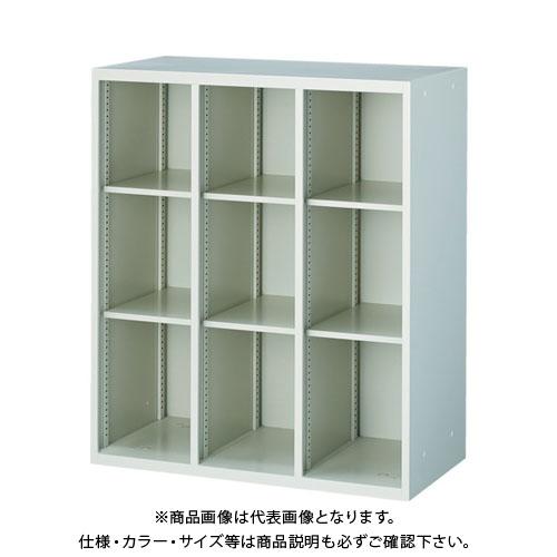 【個別送料2000円】【直送品】 TRUSCO U型壁面書庫 オープン3列 自在棚6枚付 H1050 ホワイト UOW-1133