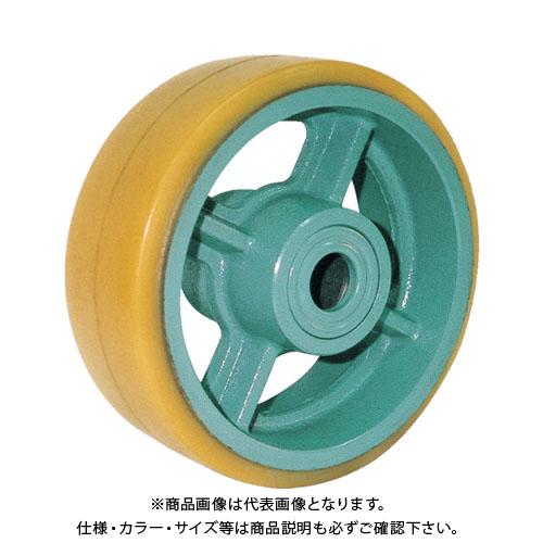 ヨドノ 鋳物重荷重用ウレタン車輪ベアリング入 UHB200X75 UHB200X75