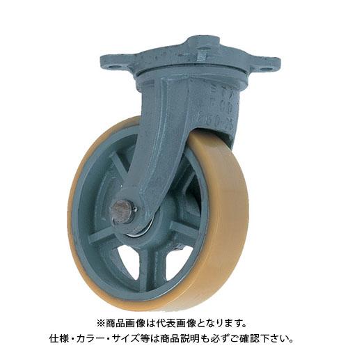 【運賃見積り】【直送品】ヨドノ 鋳物重荷重用ウレタン車輪自在車付き UHBーg300X100 UHB-G300X100