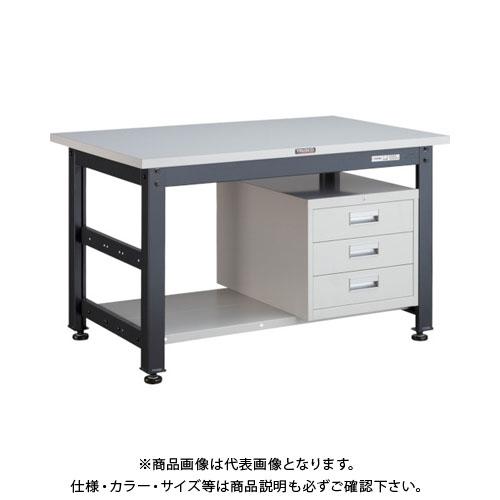 【直送品】 TRUSCO UTM型作業台 900X750XH740 3段引出付 UTM-0975D3