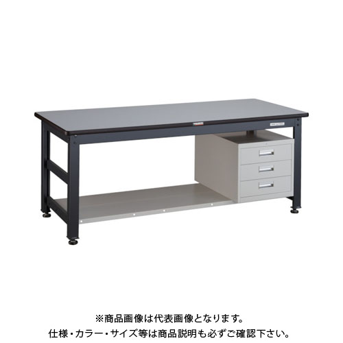 【直送品】 TRUSCO UTR型作業台 1800X750XH740 3段引出付 UTR-1875D3