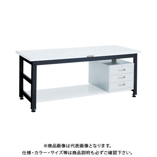 【直送品】 TRUSCO UTR型作業台 1800X900XH740 3段引出付 UTR-1890D3