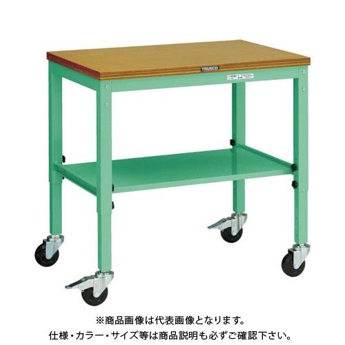 【個別送料1000円】【直送品】TRUSCO UTVC型移動作業台 900X600 キャスター付 YG色 UTVC-960YG