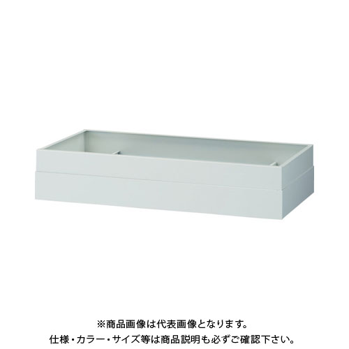【個別送料2000円】【直送品】 TRUSCO U型壁面書庫 笠木 H100~180 ホワイト UW-1018CK