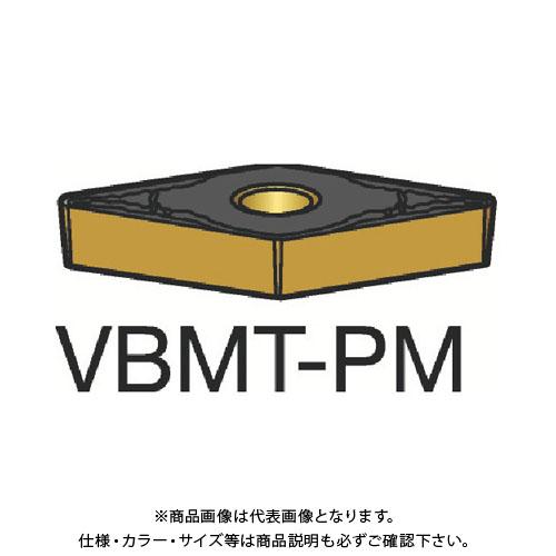 サンドビック コロターン107 旋削用ポジ・チップ 1515 10個 VBMT 16 04 04-PM:1515