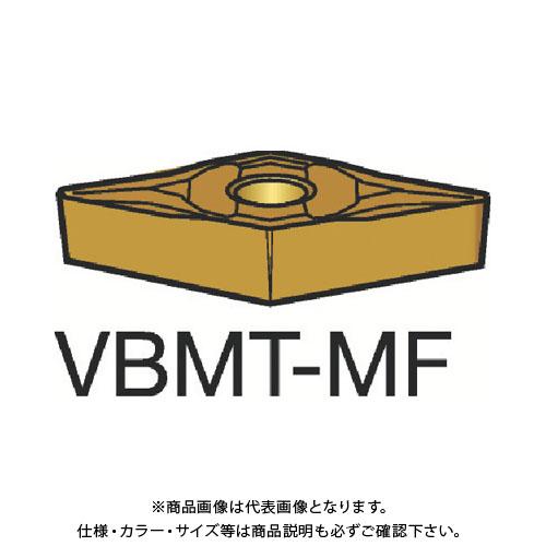 サンドビック コロターン107 旋削用ポジ・チップ 1125 10個 VBMT 16 04 02-MF:1125