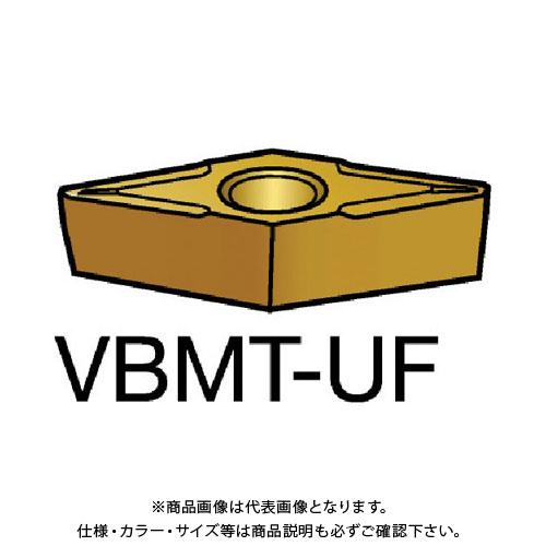 サンドビック コロターン107 旋削用ポジ・チップ H13A 10個 VBMT 11 02 08-UF:H13A