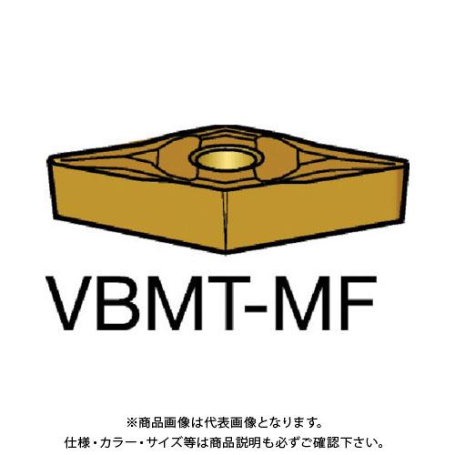 サンドビック コロターン107 旋削用ポジ・チップ 2025 10個 VBMT 16 04 08-MF:2025