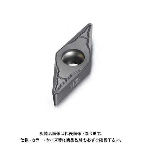 サンドビック コロターン107 旋削用ポジ・チップ 1105 10個 VBMT 16 04 04-MM:1105