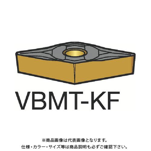 サンドビック コロターン107 旋削用ポジ・チップ H13A 10個 VBMT 16 04 04-KF:H13A