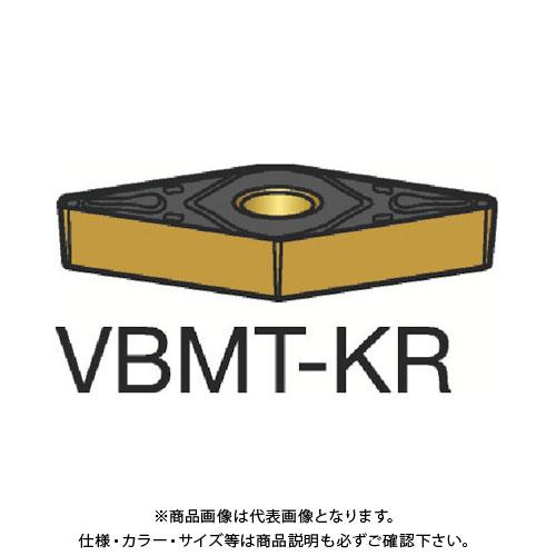 サンドビック コロターン107 旋削用ポジ・チップ 3205 10個 VBMT 16 04 08-KR:3205