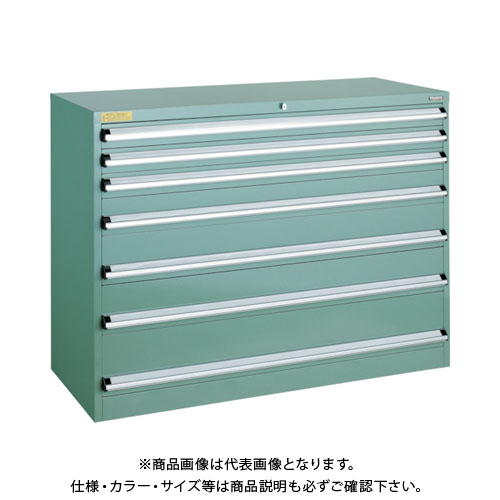 【運賃見積り】【直送品】 TRUSCO VE13S型キャビネット 1300X550XH1000 引出7段 VE13S-1002