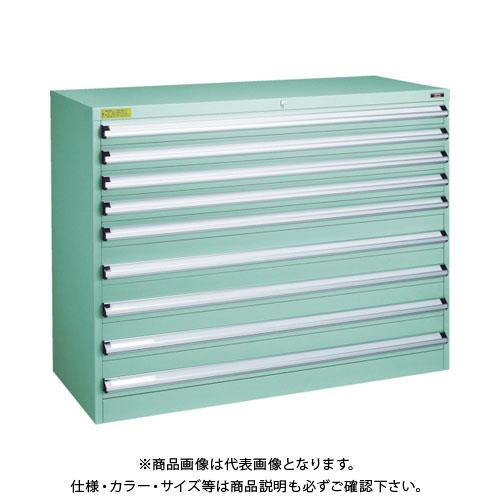 【運賃見積り】【直送品】 TRUSCO VE13S型キャビネット 1300X550XH1000 引出9段 VE13S-1006