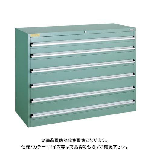 【運賃見積り】【直送品】 TRUSCO VE13S型キャビネット 1300X550XH1000 引出6段 VE13S-1007