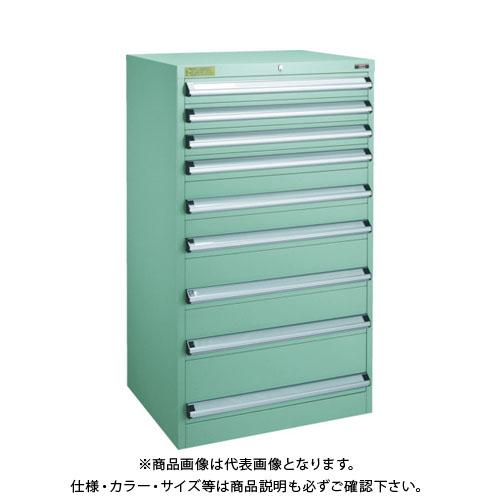 【運賃見積り】【直送品】 TRUSCO VE13S型キャビネット 1300X550XH1200 引出9段 VE13S-1201