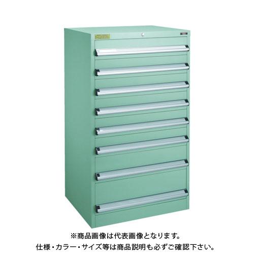 【運賃見積り】【直送品】 TRUSCO VE13S型キャビネット 1300X550XH1200 引出8段 VE13S-1203