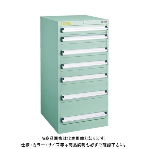 【運賃見積り】【直送品】 TRUSCO VE5S型キャビネット 500X550XH1000 引出7段 VE5S-1001