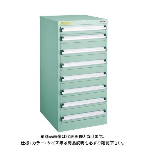 【運賃見積り】【直送品】 TRUSCO VE5S型キャビネット 500X550XH1000 引出8段 VE5S-1003