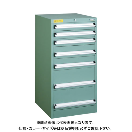 【運賃見積り】【直送品】 TRUSCO VE5S型キャビネット 500X550XH1000 引出7段 VE5S-1004