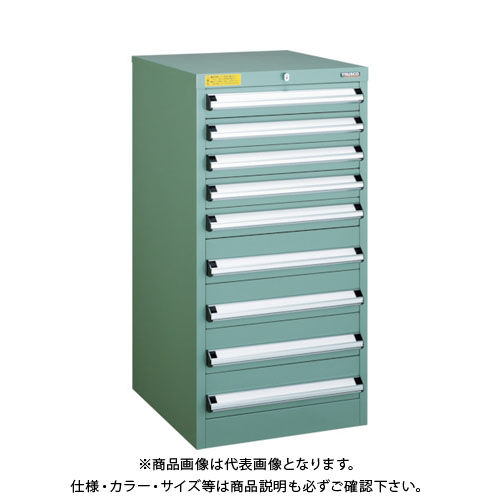 【運賃見積り】【直送品】 TRUSCO VE5S型キャビネット 500X550XH1000 引出9段 VE5S-1006