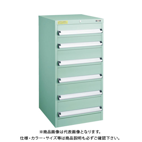 【運賃見積り】【直送品】 TRUSCO VE5S型キャビネット 500X550XH1000 引出6段 VE5S-1007