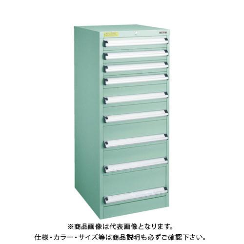 【運賃見積り】【直送品】 TRUSCO VE5S型キャビネット 500X550XH1200 引出9段 VE5S-1201