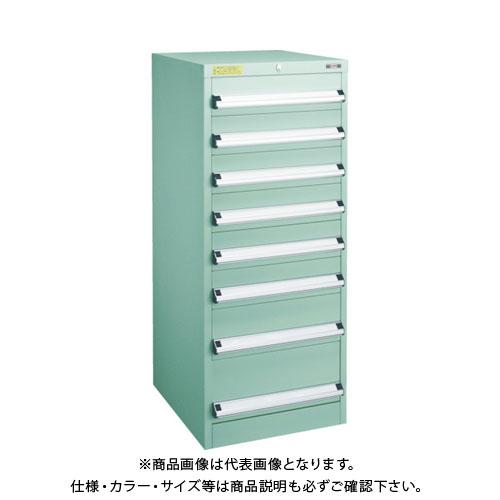 【運賃見積り】【直送品】 TRUSCO VE5S型キャビネット 500X550XH1200 引出8段 VE5S-1203