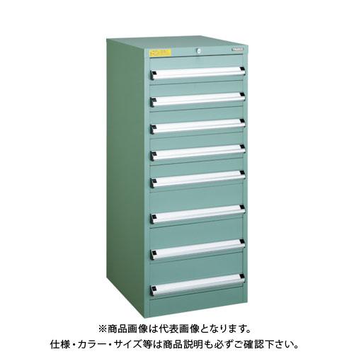 【運賃見積り】【直送品】 TRUSCO VE5S型キャビネット 500X550XH1200 引出8段 VE5S-1205