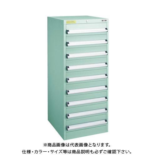 【運賃見積り】【直送品】 TRUSCO VE5S型キャビネット 500X550XH1200 引出9段 VE5S-1206