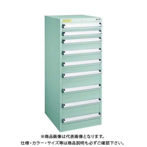 【運賃見積り】【直送品】 TRUSCO VE5S型キャビネット 500X550XH1200 引出9段 VE5S-1207