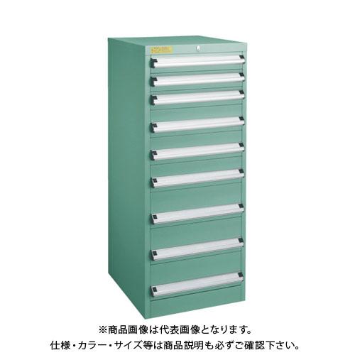 【運賃見積り】【直送品】 TRUSCO VE5S型キャビネット 500X550XH1200 引出8段 VE5S-1209
