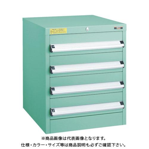 【運賃見積り】【直送品】 TRUSCO VE5S型キャビネット 500X550XH600 引出4段 VE5S-601