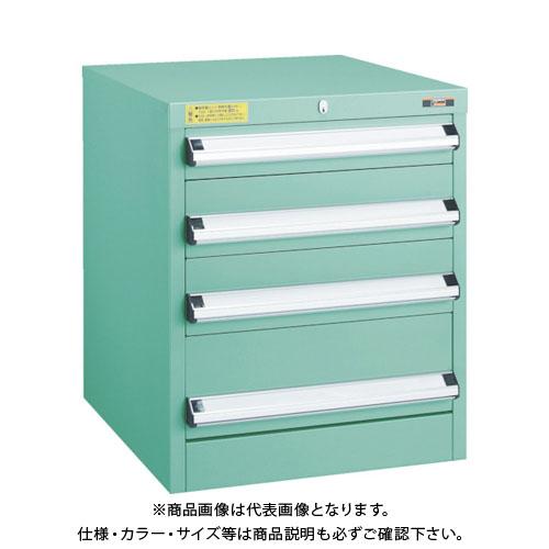 【運賃見積り】【直送品】 TRUSCO VE5S型キャビネット 500X550XH600 引出4段 VE5S-602