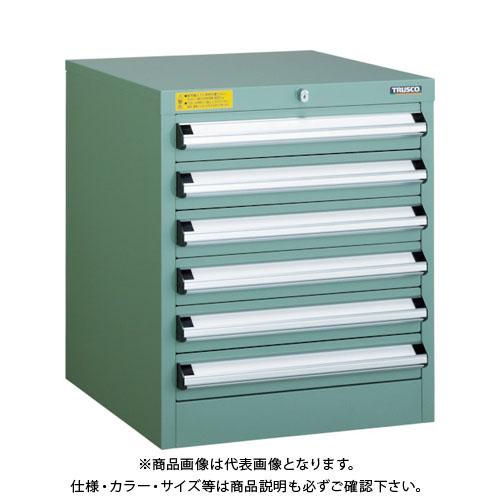 【運賃見積り】【直送品】 TRUSCO VE5S型キャビネット 500X550XH600 引出6段 VE5S-604