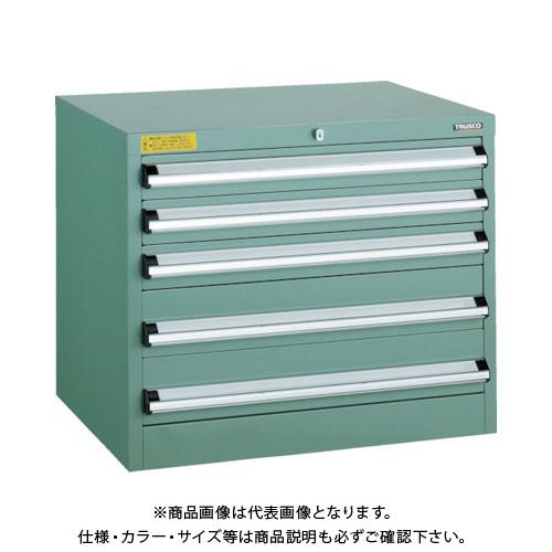 【運賃見積り】【直送品】 TRUSCO VE5S型キャビネット 500X550XH600 引出5段 VE5S-605