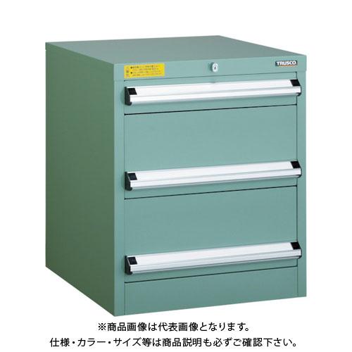 【運賃見積り】【直送品】 TRUSCO VE5S型キャビネット 500X550XH600 引出3段 VE5S-606