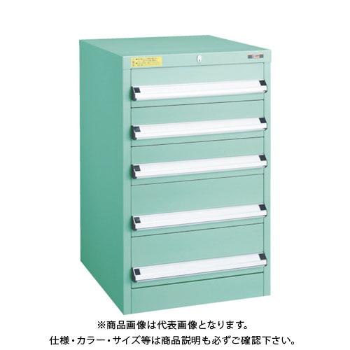 【運賃見積り】【直送品】 TRUSCO VE5S型キャビネット 500X550XH800 引出5段 VE5S-801