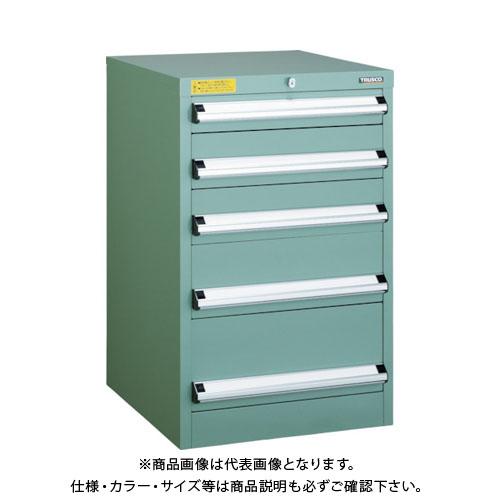 【運賃見積り】【直送品】 TRUSCO VE5S型キャビネット 500X550XH800 引出5段 VE5S-802