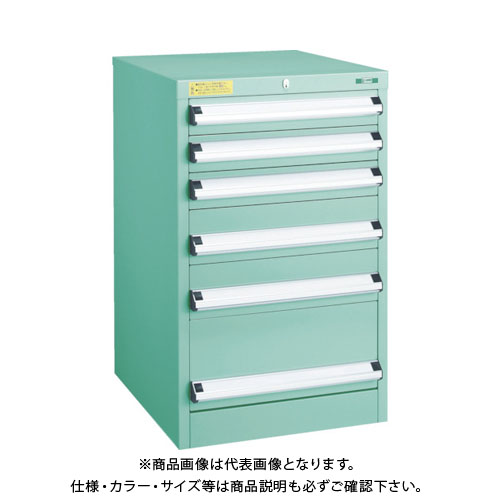 【運賃見積り】【直送品】 TRUSCO VE5S型キャビネット 500X550XH800 引出6段 VE5S-803
