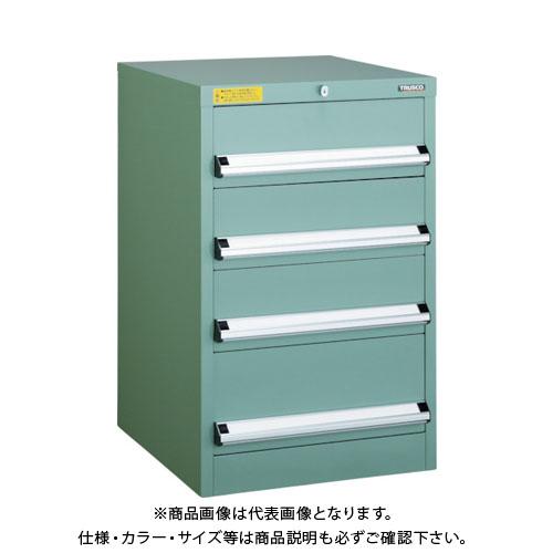 【運賃見積り】【直送品】 TRUSCO VE5S型キャビネット 500X550XH800 引出4段 VE5S-804