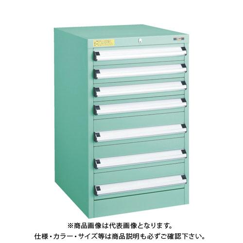 【運賃見積り】【直送品】 TRUSCO VE5S型キャビネット 500X550XH800 引出7段 VE5S-806