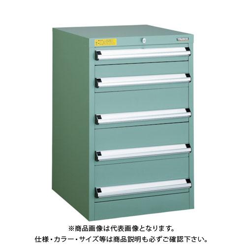 【運賃見積り】【直送品】 TRUSCO VE5S型キャビネット 500X550XH800 引出5段 VE5S-808