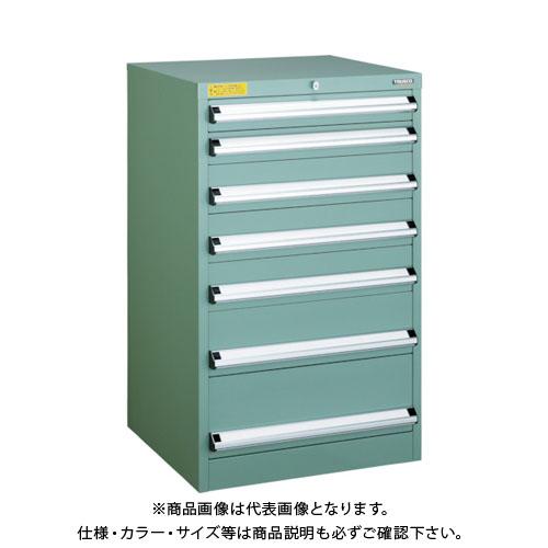 【運賃見積り】【直送品】 TRUSCO VE6S型キャビネット 600X550XH1000 引出7段 VE6S-1001